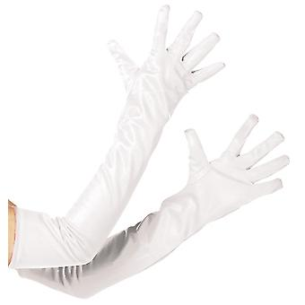 Carnival glove Halloween White extra long accessory gloves