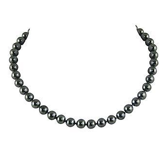 Eternal Collection Twilight Hematite Sterling Silver Gemstone Necklace