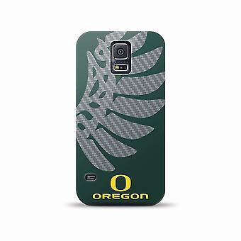 Mizco NCAA oversized SnapBack TPU Case voor Galaxy S5 (Oregon Ducks)