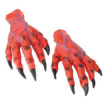 Bristol Novelty Unisex Halloween Rubber Horror Hands Gloves