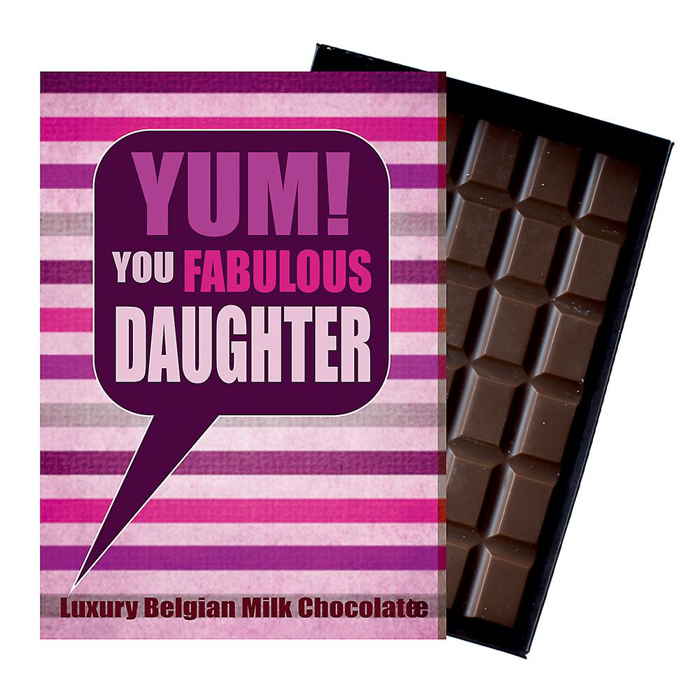 Gift for Daughter for Birthday or to say Thank You A Chocolate Greetings Card Present for Your Girl YUM107