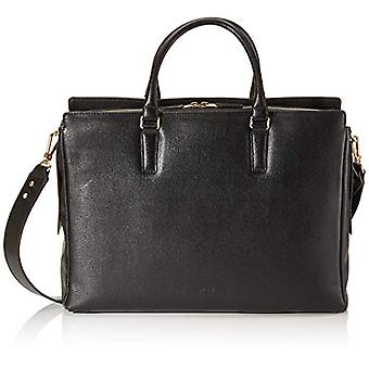 Bree Collection Chicago 5 Black Emb Workbag 1 Zip S19