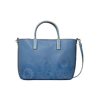 Desigual Bag Double Gin_holbox Women - Blue Women's Shoulder Bags (Azul Cloud) 17x30.5x37 cm (B x H T)