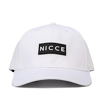 Mens Nicce Acer Cap In White- Pre-Curved Brim- Button To Top- Six Panel