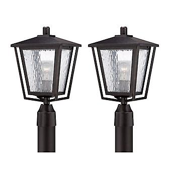 Quoizel ALF9010IB 1-Light Post Linterna Imperial Bronce Acabado 2 Pack