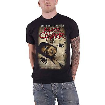 Alice Cooper T Shirt Spend The Night With Spiders Ex Tour Official Mens Black