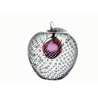 Bergdalshyttan-Art Glass-apple Big red Design Magnus Carlsson