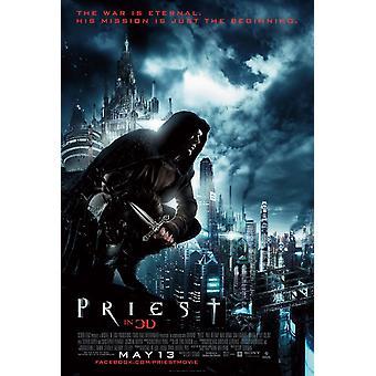 Priester Poster doppelseitig regelmäßig (2011) Original Kino Poster