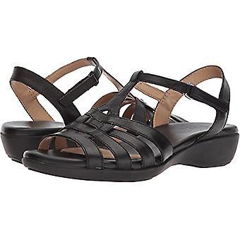 Naturalizer Womens Nanci läder öppen tå Casual T-Strap sandaler