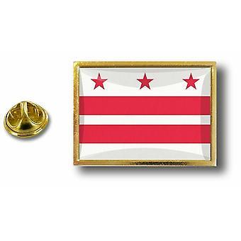 Pins Pin Badge Pin's Metal  Pince Papillon Drapeau Etats USA Washington Dc