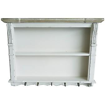 Charles Bentley White Shabby Chic Kitchen Dining Room Wall Shelving Display Unit Dresser Top