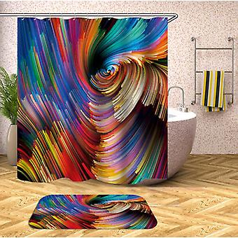 Colorful Twister Shower Curtain