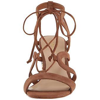 Nio västra dam Bizzy läder öppen tå Casual Strappy sandaler
