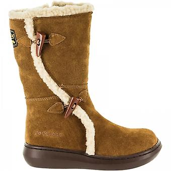 Rocket Dog Slope Senhoras Camurça Winter Boots Brown