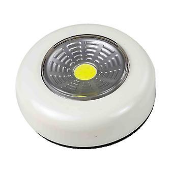 Arcas Push Light COB LED - batteria 3X AAA, colore bianco
