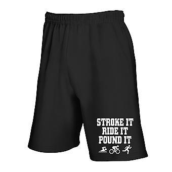 Black tracksuit shorts gen0377 shake it laughs it pound it