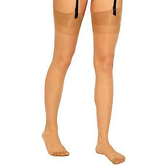 Gipsy Luxury Satin Plain Top Stockings