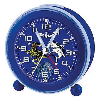Scout unga väckarklocka alarmklocka nattlampa LED blå 280001007
