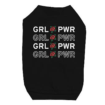 365 Printing Girl Power Black Pet Shirt for Small Dogs Funny Saying Cat Shirt