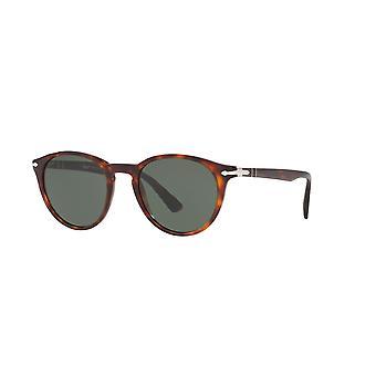 Persol PO3152S 9015/31 Havana/Green Sunglasses