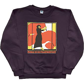 Out With Women's Suffrage Black Sweatshirt