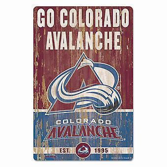 Wincraft NHL Signe en bois SLOGAN Colorado Avalange 43x28cm