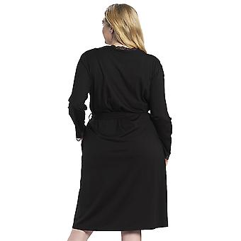 Rösch 1194580-11741 Women's Curve Jet Black Lace Robe