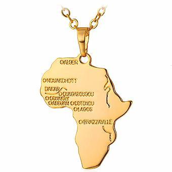 U7 Africa Necklace-Gold