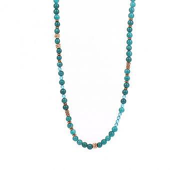 Collier et pendentif Les Interchangeables A59296   - Sautoir Bobo Chic Bleu Gris  Femme