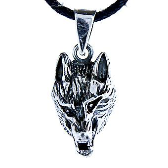 Pendant 7 a wolf - silver