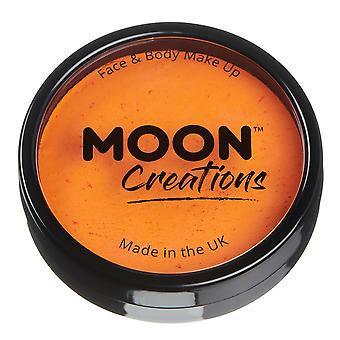 Moon Creations - Pro Face & Body Paint Cake Pots - Bright Orange