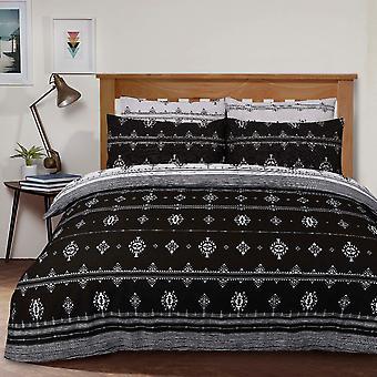 Inka Geo Black Bedding Set