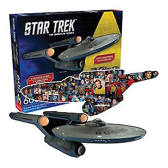 Star trek ship & collage double sided 600pc puzzle