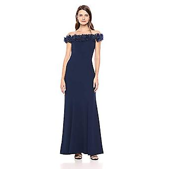Alex Seara femei & apos;s long fit și flare off-the-shoulder, bright navy, dimensiune8.0