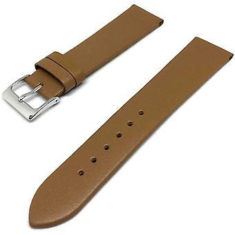 Kalb Leder Armband Tan mit Edelstahl Schnalle Größe 8mm bis 30mm