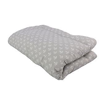 Crawling blanket Greta, grey, 140x100 cm