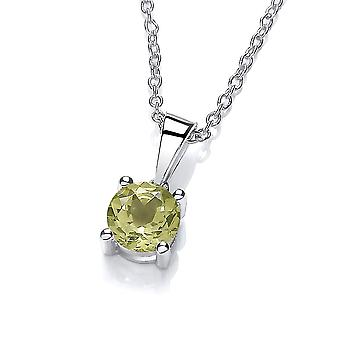 David Deyong Sterling Silver Peridot Necklace August Birthstone