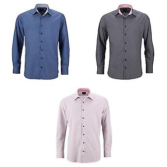 James and Nicholson Mens Classic Fit Shirt ailes