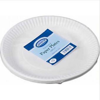 Essential Biodegradable Paper Plates (Pack Of 15)