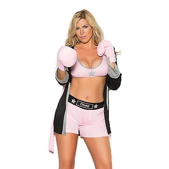 Elegant Moments Plus Size Prizefighter Boxer Girl Boxing Halloween Costume