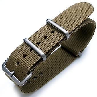 Strapcode n.a.t.o watch strap military green g10 nato watch band, heat sealed heavy nylon, brushed buckle