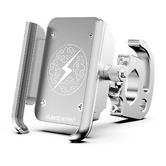 Aluminiumlegierung Fahrrad Motorrad Telefonhalter 360 Grad Rotation für 4,0 Zoll - 6,4 Zoll Smartphone