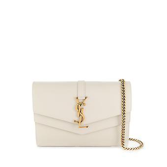 Saint Laurent 57501202g0w9207 Women's White Leather Shoulder Bag