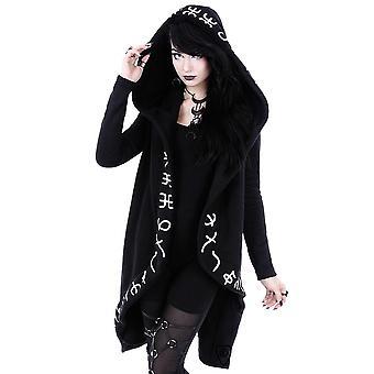 Restyle-runas hoodie-longo, jaqueta rúnico com capuz oversized