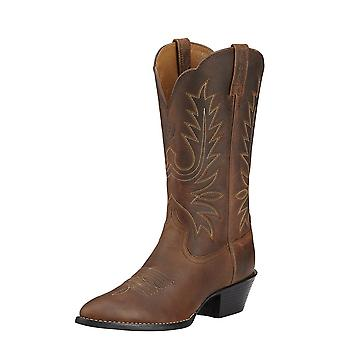 Ariat Heritage Western Womens R Toe Boot - Distressed Brown