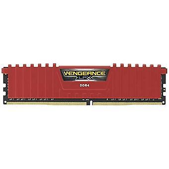 Corsair Vengeance LPX 8GB DDR4-2400 nagy teljesítményű asztali memóriák, 8 GB (1 X 8 GB), DDR4, 2400 MHz, C16 XMP 2.0, Piros