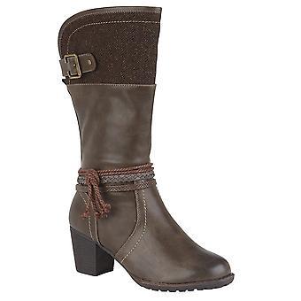 لوتس جميلة المرأة أحذية طويلة
