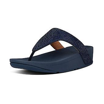 FitFlop Lottie™ Shimmer Crystal Toe-post Sandaler i Midnight Navy