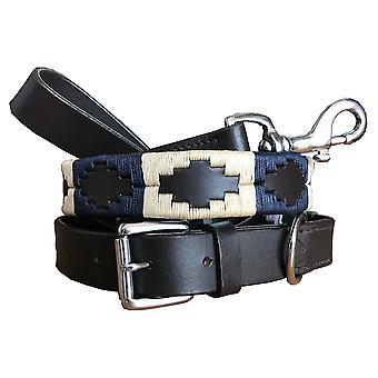 Carlos diaz echte lederen polo hondenhalsband en lood set cdhkplc51