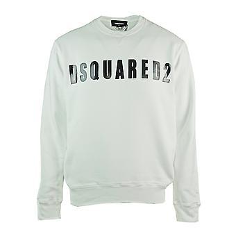 Dsquared2 شعار كبير طباعة الطائر الأبيض